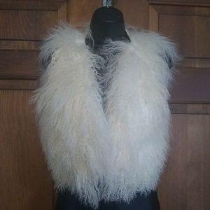 Bebe Real Lambs Fur Vest